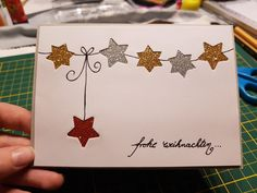 # Make # # christmas card # # do it # yourself # # christmas christmas # itself - Mach' ich auch mal! Simple Christmas Cards, Christmas Card Crafts, Homemade Christmas Cards, Holiday Greeting Cards, Christmas Cards To Make, Noel Christmas, Xmas Cards, Homemade Cards, Handmade Christmas