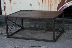Coffee Table. Mid Century Modern. Steel/Reclaimed Wood. Minimalist