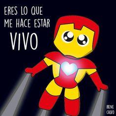 Ilustracion inspirada en Iron man de Irene Calvo