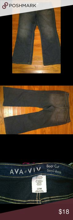 Ada & Viv 22W Bootcut Jeans Gently used . 80% cotton 18% polyester 2% spandex gives some stretch. Ava & Viv Jeans Boot Cut