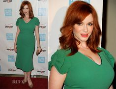 Christina Hendricks In LWren Scott - 41st Annual Peace Over Violence Humanitarian Awards
