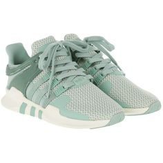 adidas Originals Sneakers - Equipment Support ADV W Sneaker Tactile... ($120) ❤ liked on Polyvore featuring shoes, sneakers, green, flat shoes, champagne flat shoes, off white shoes, pastel sneakers and toecap shoes