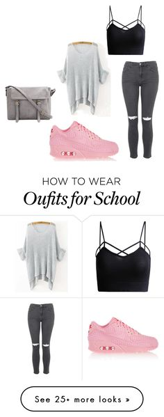 """school day"" by charlotte-vogel on Polyvore featuring Topshop and NIKE"