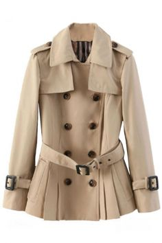 Glamorous Double-Breasted Trench Coat - OASAP.com $52