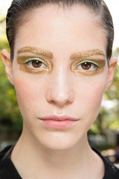 beauty-dior-spring-2014 gold eyebrows