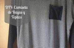 DIY: Camiseta de Rayas y Topitos (DIY: Navy spot t-shirt)