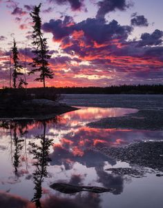 Long Lake, Yellowknife, NWT (Canada) by Dave Brosha
