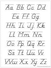 Print Alphabet Chart Capital Letters and all other letters