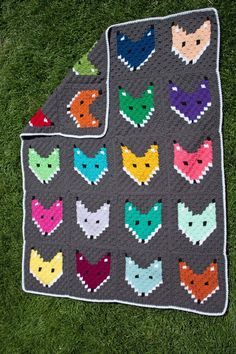 Free Pattern C2C Fox Block Blanket