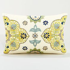 Found this pillow at my local World Market, and absolutely fell in love. This color scheme is my living room/dining room inspiration.