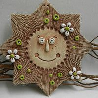 Keramika / Zboží | Fler.cz Sun Art, Pottery Classes, Ceramic Pottery, Moon, Christmas Ornaments, Holiday Decor, Crafts, Drink, Clays