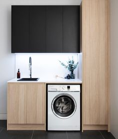 Modern Laundry Rooms, Laundry Room Bathroom, Laundry Room Remodel, Bathrooms, Small Laundry Sink, Laundry Sinks, Laundry Cabinets, Laundry Room Inspiration, Laundry Room Organization