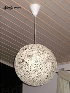 Merjan käsityöt: Paperinarusta lamppu