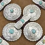 Silver and turquoise Belt buckles