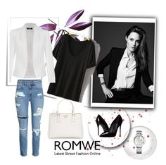 """""""T- shirt from Romwe"""" by belma0 ❤ liked on Polyvore featuring Prada, Dolce&Gabbana, Tommy Hilfiger and Ally Fashion"""