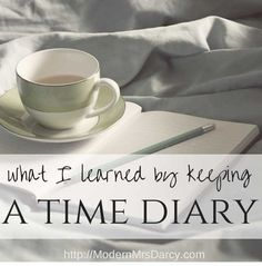 What I learned by keeping a time diary.