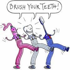 Brush your teeth twice a day with toothpaste that contains fluoride for at least two minutes each time to keep your teeth and mouth free of dental disease. Dental Humor, Dental Hygiene, Family Dental Care, Dental Veneers, Pediatric Dentist, Bad Breath, Oral Health, Mental Health, Teeth Cleaning