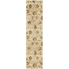Charlton Home Lavelle Ivory / Brown Area Rug Rug Size: Runner 2' x 8'