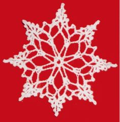 Maggie's Crochet · Snowflake Christmas Ornament Free Pattern