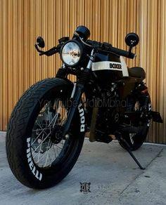 Terrifically Modified Bajaj Boxer 150 Cafe Brat by ZDR Custom Moto Cx500 Cafe Racer, Cafe Racer Logo, Cg 125 Cafe Racer, Honda Scrambler, Cafe Racer Bikes, Scrambler Motorcycle, Cb750 Cafe, Ducati Monster, Cars