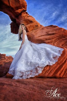 Bride in the Valley of Fire, just outside of Vegas