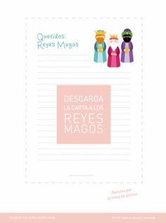 Descargable gratuito de la carta a los Reyes Magos.  Exclusivo para uso personal © 2013. Ahora también mamá