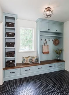 """Fantastic """"laundry room storage diy cabinets"""" info is offered on our site. Have a look and you wont be sorry you did. Mudroom Laundry Room, Laundry Room Design, Bench Mudroom, Small Room Design, Family Room Design, Built In Shelves, Small Shelves, Built Ins, Floor Design"""