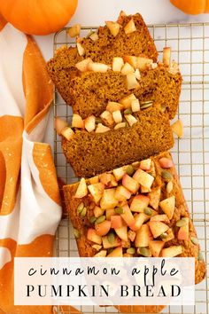 Cinnamon apple pumpkin bread combines the flavors of pumpkin, apples, fall spices, and pumpkin seeds into one delicious moist and fluffy loaf! Simply made with just a few ingredients, it's the perfect pumpkin bread recipe for fall! Sugar Pumpkin, Canned Pumpkin, A Pumpkin, Pumpkin Puree, Pumpkin Spice, Apple Recipes, Pumpkin Recipes, Fall Recipes, Bread Recipes