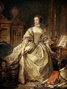 ♪ The Musical Arts ♪ music musician paintings - François Boucher | Madame de Pompadour, early 1700s