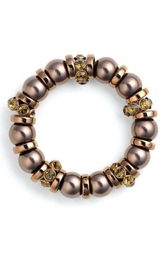 Givenchy Glass Pearl Stretch Bracelet!!