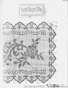 Interior design colleges online to attend (Pattern) - Crochet Filet Crochet Table Runner, Crochet Tablecloth, Crochet Doilies, Crochet Lace, Crochet Roses, Crochet Edgings, Interior Design Colleges, Filet Crochet Charts, Thread Crochet