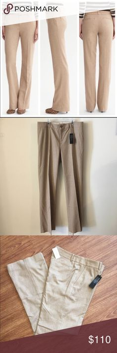 """NWT Banana republic """"Martin Fit"""" Trouser size 12L 📦Same day shipping (as long as P.O. is open for business). ❤ Measurements are approximate. Descriptions are accurate to the best of my knowledge.  These NWT chic pants from Banana Republic are Size 12L. 35% wool, 33% polyester, 31% viscose, 1% elastane. Lining: 95% polyester, 5% spandex. Mid-rise straight silhouette classic pleating & off-seam front pockets & foe back pockets for style. Flat measurements: 18"""" across waist, 10.5"""" rise, 35.5""""…"""
