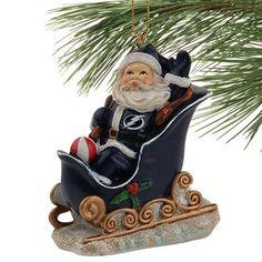 Tampa Bay Lightning Santa Sleigh Ornament
