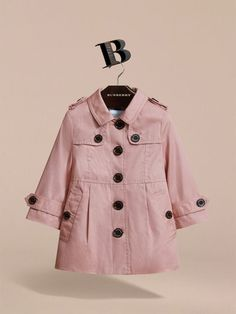 Cotton Single-breasted Trench Coat in Pale Rose | Burberry - cell image 2