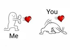 Actually thats me and my sister except im the one avoiding the hearts because my sister gives me too much love Memes Funny Faces, Funny Relatable Memes, Cute Cartoon Wallpapers, Cute Wallpaper Backgrounds, Sapo Meme, Pelo Anime, Small Canvas Paintings, Doodle Characters, Cute Love Memes