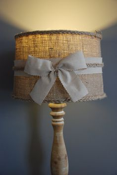 Beautiful handmade hessian lampshade or by AndreaCookInteriors