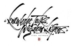 Knowledge Talks, Wisdom Listens. by Luca Barcellona - Calligraphy & Lettering Arts, via Flickr