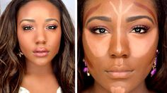 How to Contour & Highlight for Black Women Tutorial  using DRUGSTORE Pro...