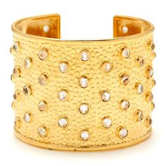 Cuff love: SALE-NuNu Cuff Bracelet with Cubic Zirconia.