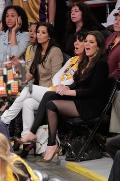 Kardashian's @ Lakers Game