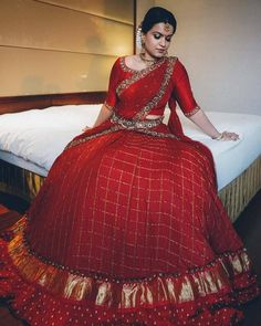 Planning to shop silk half sarees? Here are 20 colorful half saree designs and how to style it with utmost Irresistible Pattu Dress Models You Need To Know! Lehenga Saree Design, Half Saree Lehenga, Lehnga Dress, Saree Look, Lehenga Designs, Sari, Anarkali, Lehanga Saree, Blue Lehenga