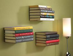 """""""Concel Book Shelf""""... very cool idea for book storage. Try it with some older covered books for that vintage look."""