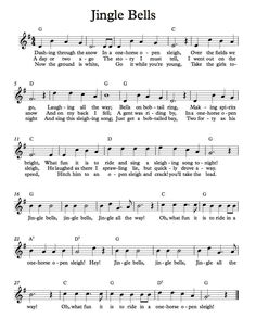 Free Sheet Music - Free Lead Sheet - Jingle Bells