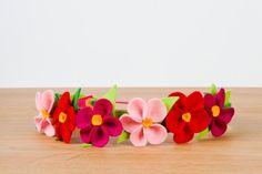 #gorgeous #felt #flower #crown 4 #girl #flowergirl #fairy #princess #costume