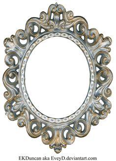vintage silver and gold frame