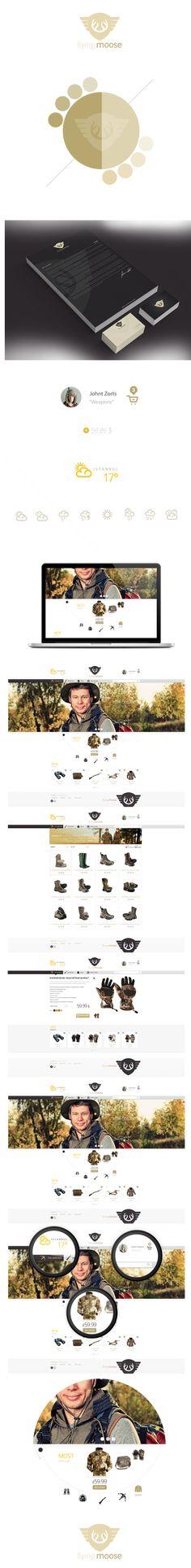 Flying Moose by Cüneyt ŞEN, via #Behance #Mobile #Web webdesign inspiration