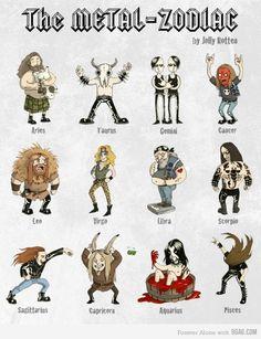 Metal Zodiac... Hahahahaha!!!