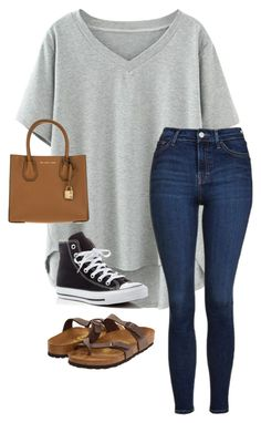 """""""Untitled #85"""" by chloe-madison-barnes on Polyvore featuring Topshop, Converse, Birkenstock and MICHAEL Michael Kors"""