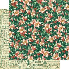 """*PRE-ORDER* Graphic 45 - A Christmas Carol Collection - 12""""x12"""" cardstock - Graceful Garland"""