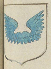 Florent MARTIN, greffier des Sièges de Saumur; Porte : d'argent, à un vol d'azur | N° 258 > Saumur